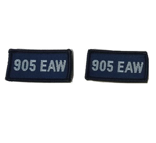 RAF PATCH 905 EXPEDITIONARY AIR WING ON VELCRO ROYAL AIR FORCE PATCH PAIR