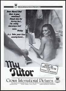 MY-TUTOR-Original-1982-Trade-print-AD-promo-poster-VANNA-WHITE-CAREN-KAYE