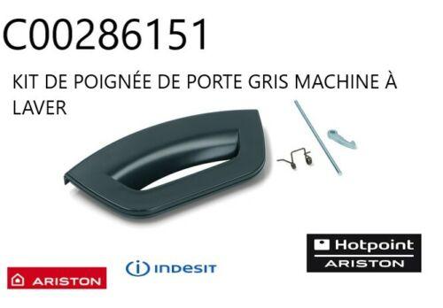 INDESIT KIT DE POIGNÉE DE PORTE GRIS MACHINE À LAVER ref C00286151 ARISTON