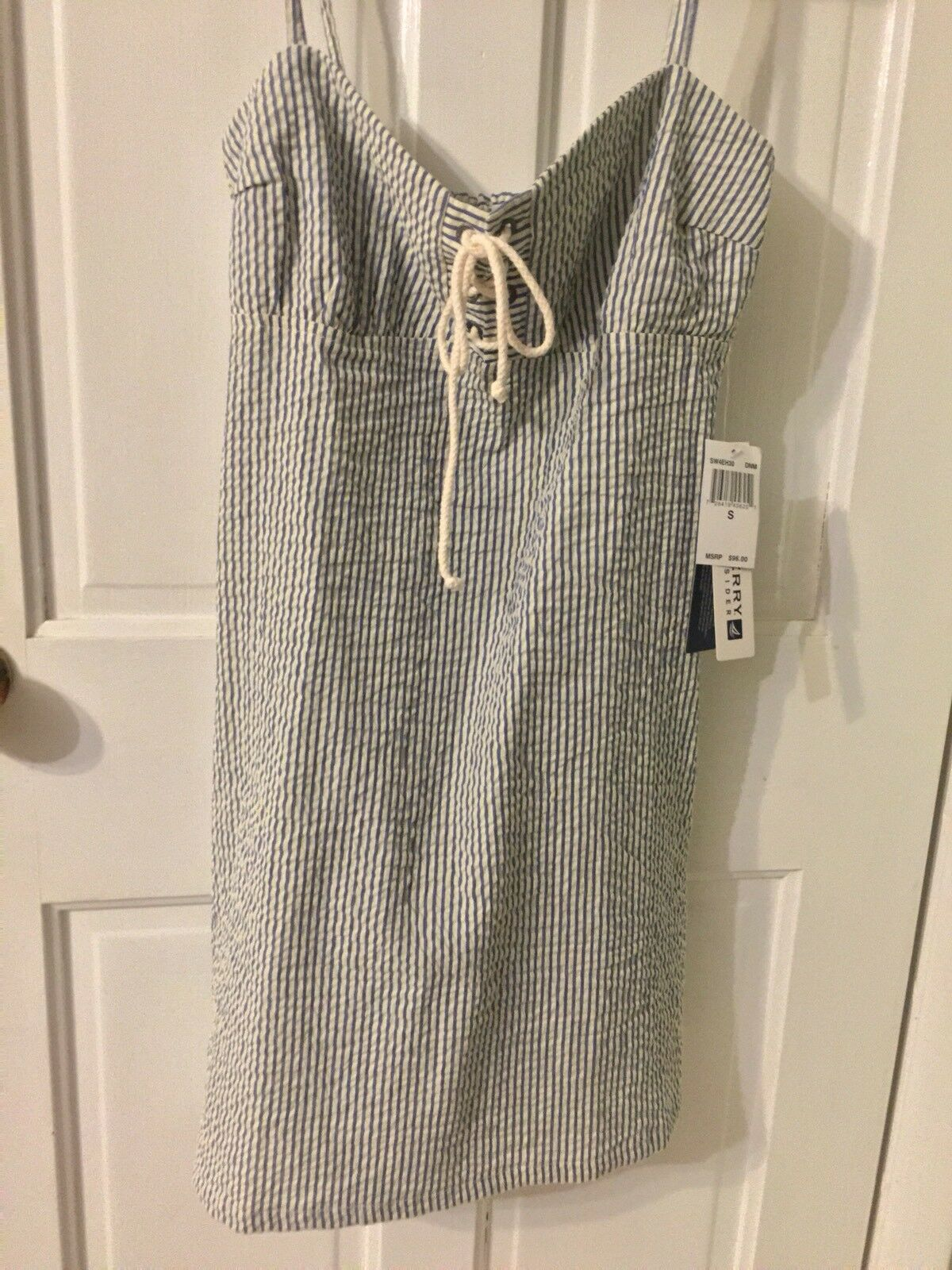 WOMEN'S BRAND NEW WITH TAGS SPERRY TOP-SIDER 100 % COTTON GINGHAM DRESS SZ S