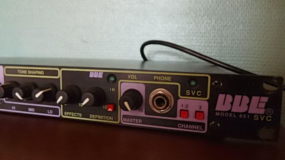 Guitar preamplifier, BBE 651 SVC