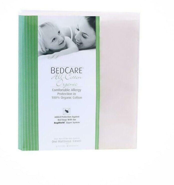 BedCare Organic All-Cotton 15 in. Deep Mattress Encasing Queen  unbleached GOTS