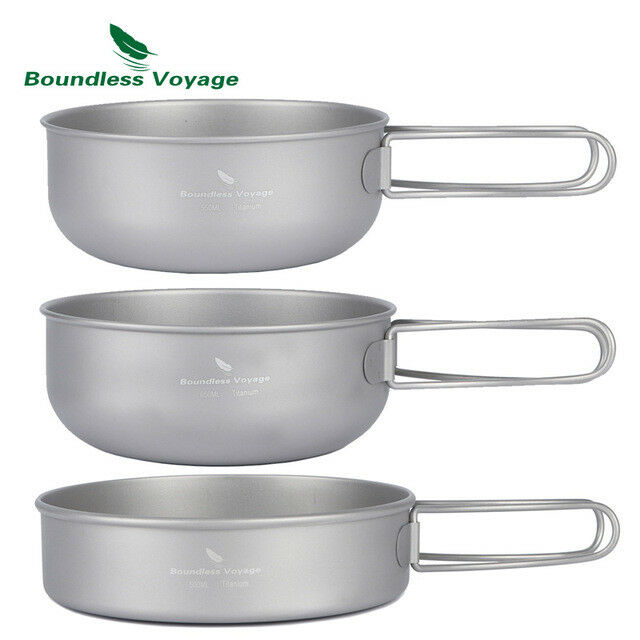 GoGear Titanium 3 Piece Camping Cookware Cookware Camping Set: Ultralight, Cooking, Hiking, Pan 42584e