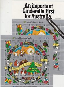 Lions-International-Christmas-Seals-1984-Australia-stamp-sheet-of-30-amp-brochure