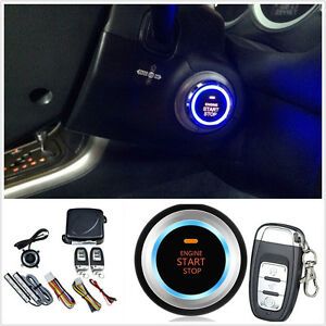 Car Alarm System Keyless Entry Engine Start Push Button Remote
