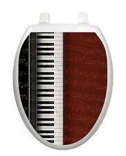 Toilet Tattoos Key Notes Seat Lid Cover Vinyl Piano Keys Music Reusable