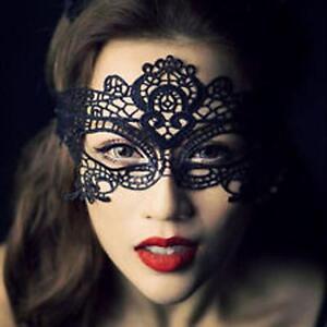 BLACK-LACE-Ladies-Masquerade-Eye-Mask-Goth-Fancy-Dress-Hen