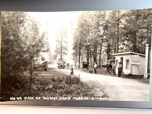 Details about 1927 TOURIST REST CAMP MISSOULA MONT  R P  OLD CARS CAMP HOST  SLIGHTLY CROPPED