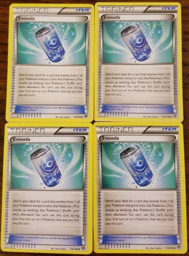 Uncommon NM XY Pokemon 116//146 4x Evosoda Base Set