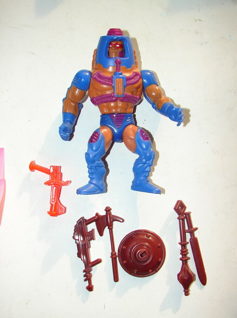 MOTOU HE-MAN E Faces w extra vapen set RARE 1982 årgång 1019