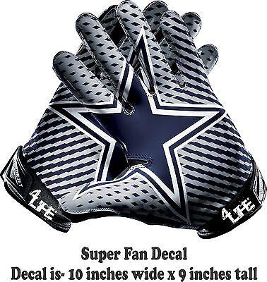 Dallas Cowboys 4life 10 Nfl Car Window Or Wall Vinyl Glossy Glove Decal Sticker Ebay