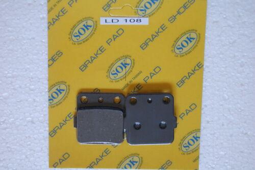 87-88 RM250 1988 RM125 FRONT/&REAR BRAKE PADS fit SUZUKI RM 125 250