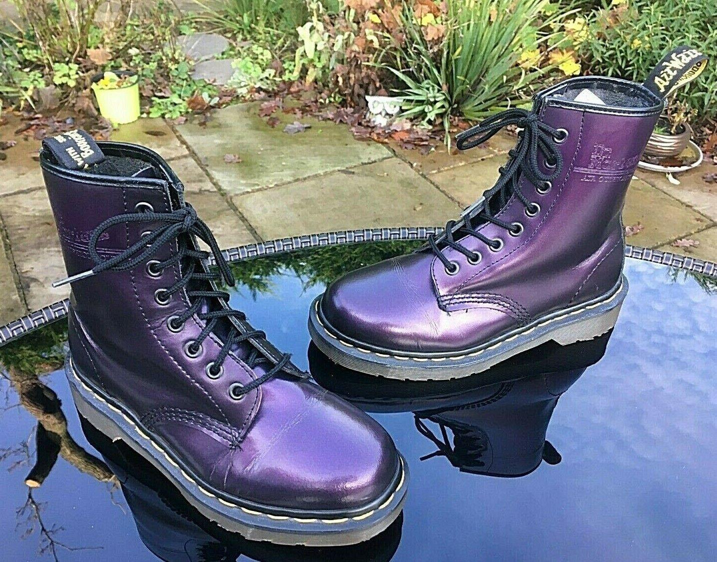 Dr. Martens Vintage 1460 lila shimmer leather Stiefel UK 3 EU 36 Made in England