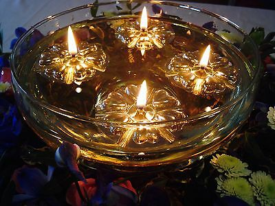 25 GOLD REUSABLE FLOATS 100 LONG BURNING CANDLE WICKS WEDDING TABLE CENTREPIECE
