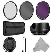 58MM UV / CPL Polarizer / FLD Filter Kit &Lens Hood für Canon 18-55mm Nikon Lens