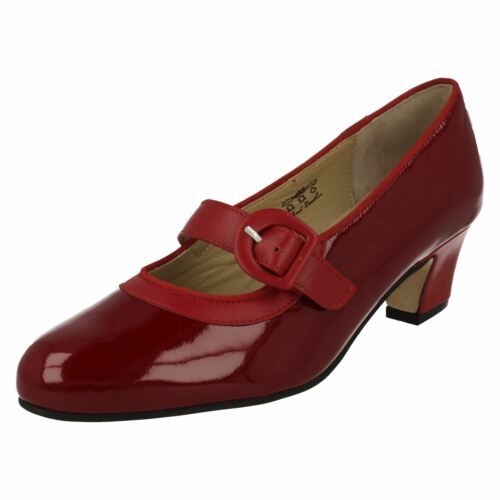 7aba5b9c0a3 Red Ladies Wide Fit Jane Mary Court Equity Patent Maxine Sko 88q4HR