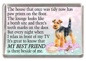 Welsh-Terrier-Dog-Fridge-Magnet-034-MY-BEST-FRIEND-POEM-034-Novelty-Gift-by-Starprint