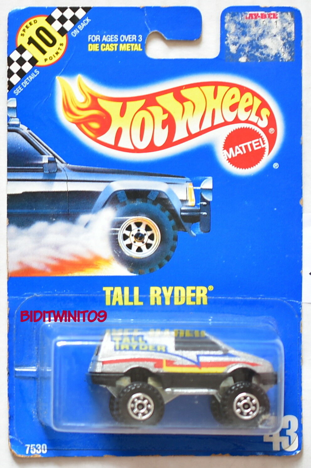 HOT WHEELS 1990 blueE CARD TALL RYDER RYDER RYDER W  GEAR HUBS 20 d2031f