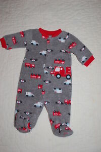 Child Of Mine By Carters Infant Boys  Fire Truck Sleeper  Preemie Up To 6 Lbs