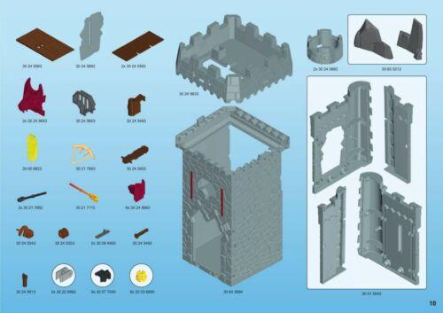 BARON/'S CASTLE 6695 6697 ROYAL TRIBUNE SPARE PARTS SERVICE * * PLAYMOBIL