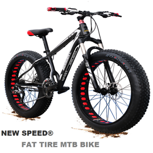 "Mountain Bike/Bicycle NEW SPEED® Men/Women Fat Tire 26""MTB Frame Full Suspension"