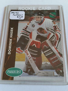 1991-92-Parkhurst-263-Dominik-Hasek-RC-Chicago-Blackhawks