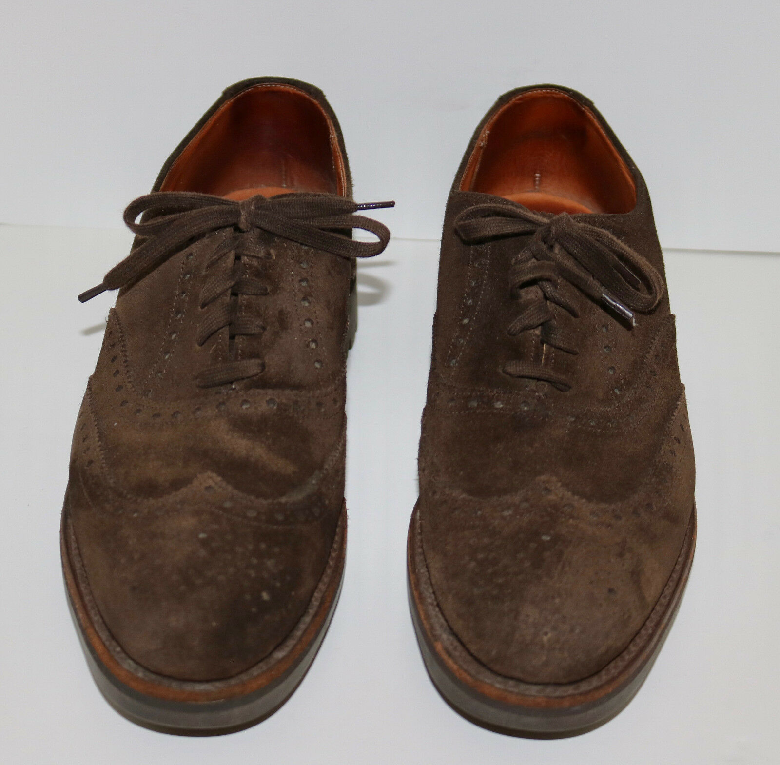 Polo Ralph Lauren vintage Ballantyne suede spectator wing tip shoes 9 B