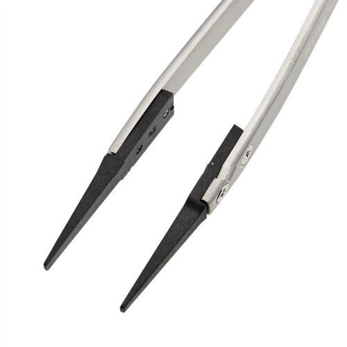 ESD-242 High Temperature Stainless Steel Tweezers Carbon Fiber Changeable Tip