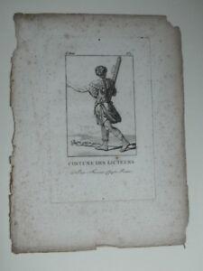 Grabado Traje Los De Lictores Romano Siglo XVIII C. 1790