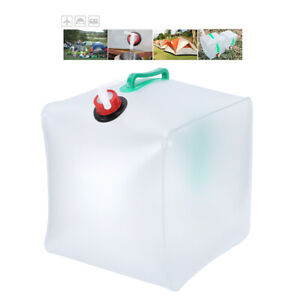 20L Leakproof Collapsible Water Bag Folding Bucket Container Water Carrier 28cm