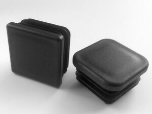 25x25mm Square Plastic End Caps Blanking Plugs Tube Box Section Inserts