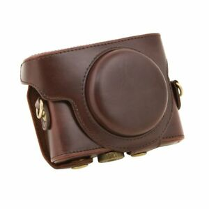 For-Sony-DSC-RX100-Camera-Case-PU-Leather-Case-with-Shoulder-Belt-coffee-X8S7