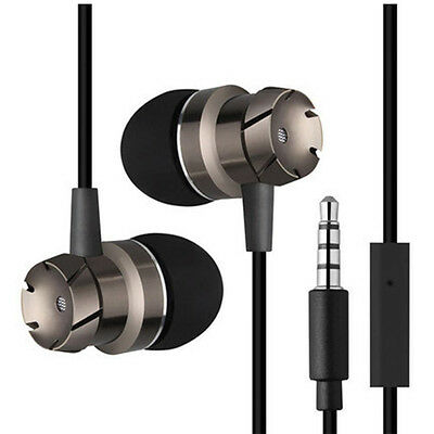 3.5mm With Mic Super Bass Music In ear Stereo Headphone Headset Earphone Earbuds