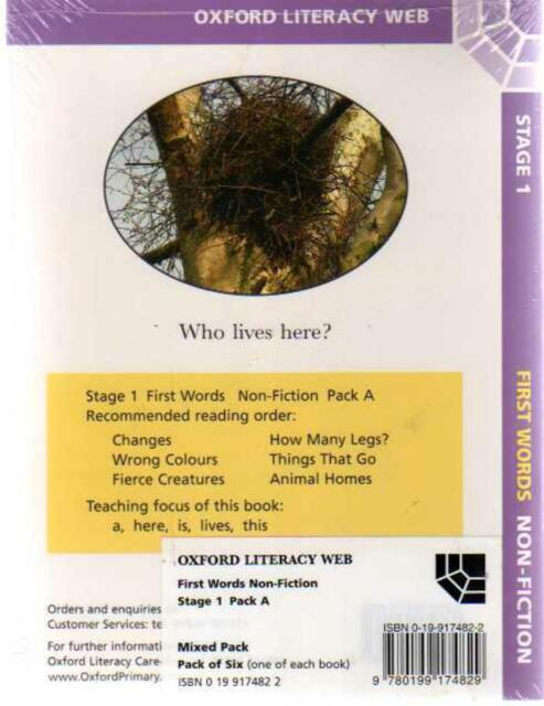 Oxford Literacy Web First Word Non Fiction  -, Anon