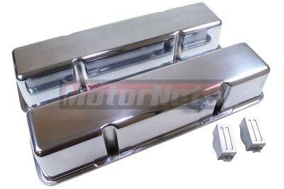 SBC Fabricated Aluminum Valve Cover SBC 283-305-307-327-350 Anodized No-Hole