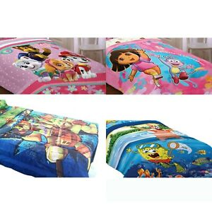 nEw-NICKELODEON-BED-COMFORTER-Paw-Patrol-Dora-TMNT-Bedding-Blanket-Cover