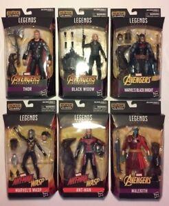 Marvel Legends Série Cull Obsidian Ensemble complet de 6 figurines Mip 2018