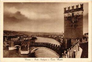 CPA-VERONA-Ponte-Scaligero-e-Torre-Mastio-ITALY-493290