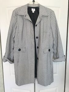 9 Womens Button And White Peacoat Apt Up Black zd1qHp