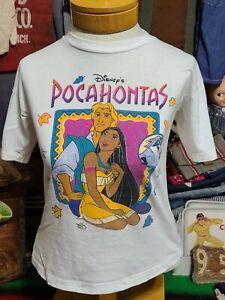 Vtg 1995 Disney Pocahontas cartoon movie promo 90s single stitch tee t shirt S