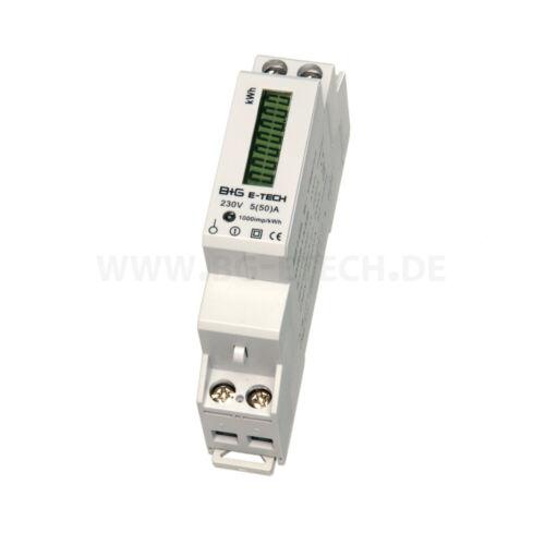 Wechselstromzähler LCD Stromzähler für Hutschiene mit S0 Ausgang 5 A 50