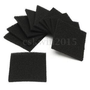 10PCS-Black-Square-Universal-Activated-Carbon-Foam-Sponge-Air-Filter-Pads-Set