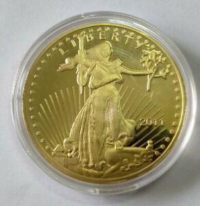 2011 America USA Walking Liberty Eagle gold color medal medallion souvenir coin