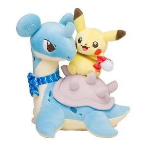 Pokemon-Centre-Limite-Original-Poupee-Peluche-Pikachu-amp-Lapras-JP