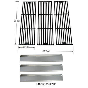 5050 3008 5252 Burner,SS Heat Plate,Cooking Grid 4000 3030 Chargriller 3001