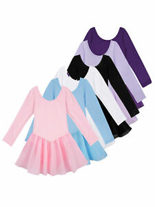 Girls-Ballet-Tutu-Dance-Dress-Gymnastics-Skate-Leotard-Skirt-Dancewear-Costumes