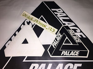 1e5daf9c2ea7 2 PALACE SKATEBOARDS BLACK WHITE TRI FERG STICKER SS15 TRI FLAG ...
