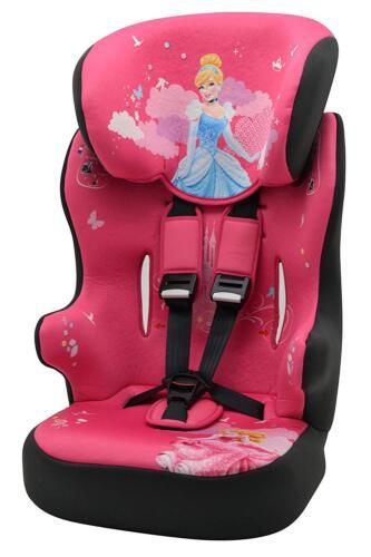 Girls Disney Princess Pink Car Seat Group 1//2//3 Kids Highback Booster 9-36Kg New