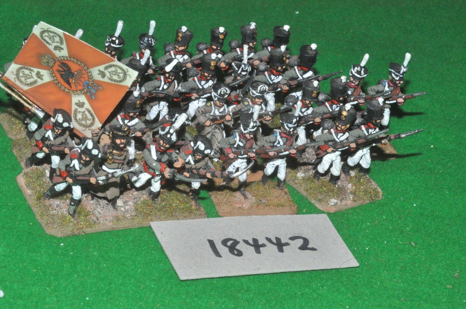 25mm napoleonic russian grenadiers 32 figures {10} (18442)