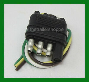 Trailer End Light Wiring Harness Bonded Flat 4 Way Pole